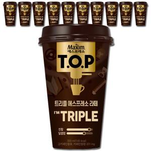 [티오피] TOP 컵커피 트리플 라떼 300mlx10컵+아이스 안전포장