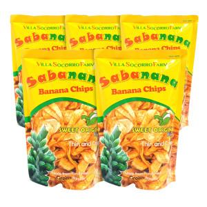 필리핀/ 5봉 사바나나 바나나칩 사바나나칩 간식 과자