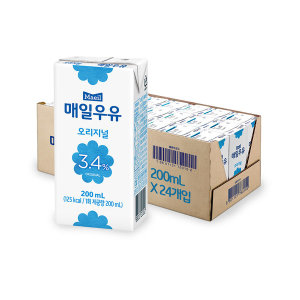 [매일우유] 멸균우유 200ml 24팩 /우유/매일/음료/박스포장
