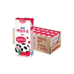 [매일우유] 딸기 멸균우유 200ml 24팩 /우유/매일/딸기우유