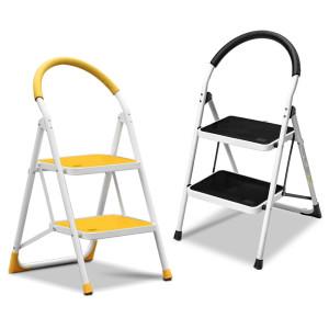 [로티홈시스] 접이식 옐로우 계단 사다리 2단