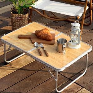 [로티캠프] 접이식 알루미늄 캠핑 미니 테이블 미니슬림 테이블