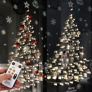 [조아트] 크리스마스트리 벽트리 장식 소품 앵두 전구 풀세트