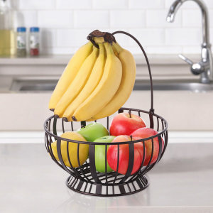 [토프] 인테리어 바나나걸이 겸용 과일바구니