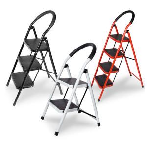 접이식 사다리 계단형 2단 MI-L90S2(화이트) 90kg하중