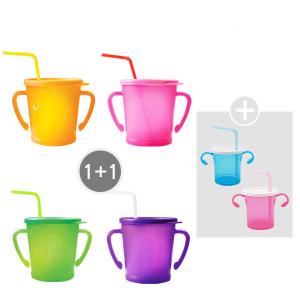 [아가프라] 매직빨대컵 1+1 + 빨대컵2개증정