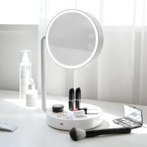 [오아] 블링 LED 화장 탁상 거울 스탠드 화이트 B0023