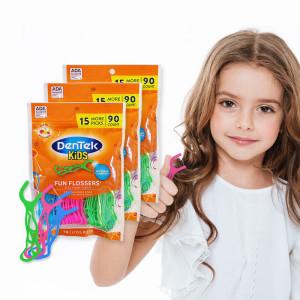 덴텍 유아치실 3팩(225개입)/아동치실/어린이치실