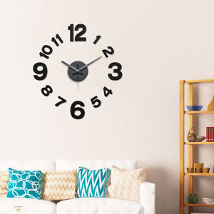 [아미공] 인테리어벽시계 DIY 무소음벽시계 모던블랙