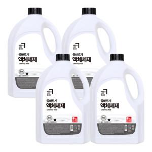 [올바르게] 8無 액체세제 2.5L 4개/드럼겸용 세탁세제 섬유유연제
