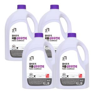 [올바르게] 올바르게 퍼퓸 섬유유연제 라벤더향/액체 세제 2.5L4개