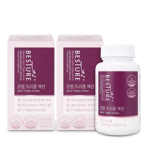 [베스처] 관절 트리플액션 (MSM+글루코사민+비타민D) 60정x2박스