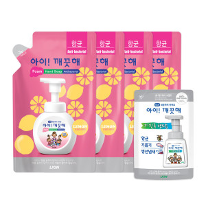 [아이깨끗해] 아이깨끗해 핸드솝 레몬 450ml 리필 5개