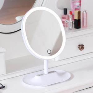 [무아스] 뷰티링 LED 거울 화이트 조명 화장거울