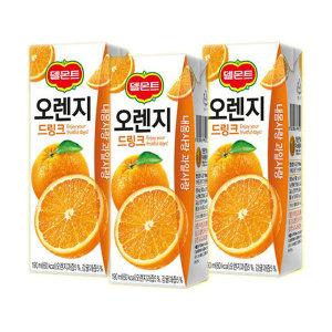 [롯데칠성] 델몬트드링크 오렌지 190mlx24팩/포도/망고/사과
