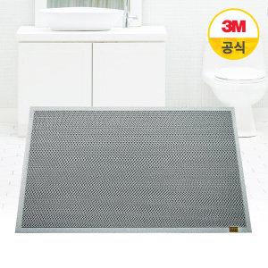 [3M] 미끄럼방지 엔트랩 욕실매트 소형 - 75x45cm (그레이)