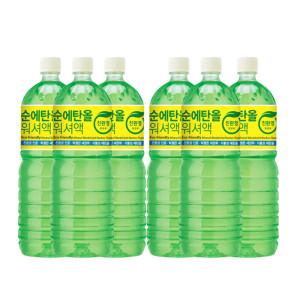 [카렉스] 맑고 깨끗한 순 에탄올 사계절 워셔액 1.8L (6개 SET)