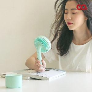 [오아] 데이지팬 휴대용선풍기 탁상용 미니선풍기 민트 F0094