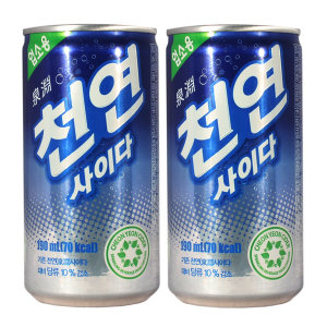 [천연사이다] 일화 천연사이다 190ml x 30캔 / 탄산음료 캔음료