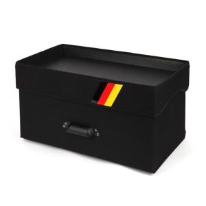 [케이엠모터스] 두바퀴 트렁크정리함/대-60cm 블랙(1P)/대용량수납함