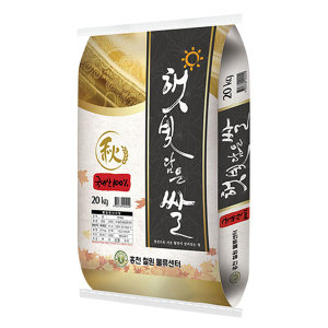햇빛담은 쌀 20kg 20년산 햅쌀 (당일도정)