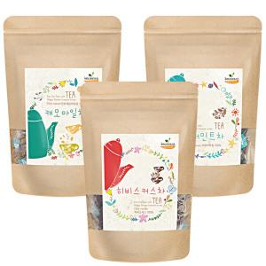 캐모마일/보이차/루이보스 등 총 41종 100티백