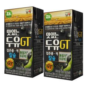 [맛있는두유GT] GT두유 검은콩두유 190ml x 64팩 / 팩두유