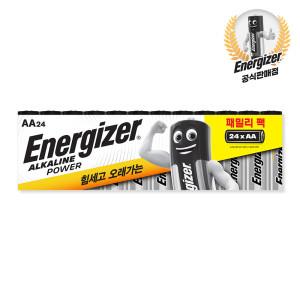 [에너자이저] 알카라인 건전지 패밀리팩 AA 24입