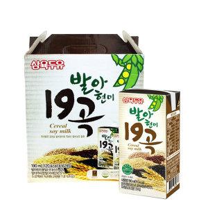 [삼육두유] 삼육 발아현미19곡두유 190ml x 16팩 스마일배송