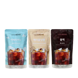 [카페베네] 파우치음료190ml 30팩 골라담기/아메리카노/블랙 외
