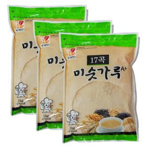 [뚜레반] 영양간식 17곡 미숫가루 1kgx3봉지 식사대용 무료배송