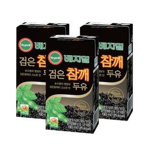 [베지밀] 베지밀 검은참깨 두유 190ml 24팩 건강음료 선물