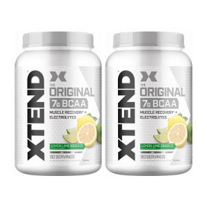 [엑스텐드] 2개 XTEND BCAA 레몬 라임 스퀴즈 90 서빙 헬스 보충제 아미노산 1.4 kg