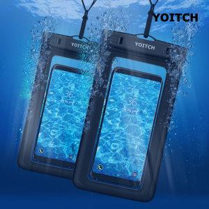 [요이치] 1+1 블랙 핸드폰 휴대폰 방수팩 레릭 블랙+블랙