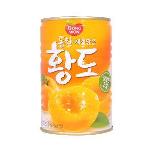 [동원에프앤비] 동원 황도 400g x 6캔 / 과일통조림 황도캔