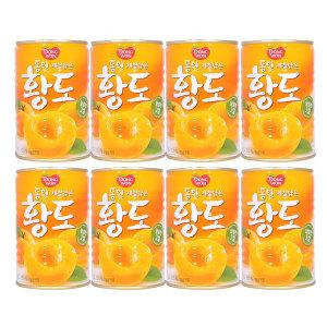 [동원에프앤비] 동원 황도 400g x 8캔 / 과일통조림 황도복숭아