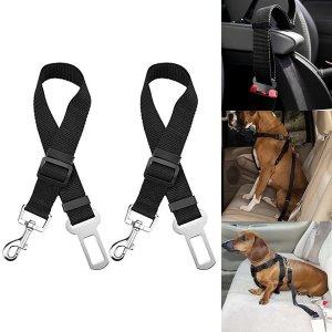 2PCS 애완동물 차량용 안전벨트