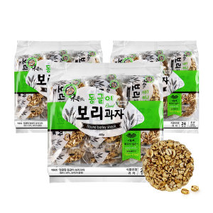 엉클팝/보리과자/쌀과자/ 동글이 보리과자 400g x 3ea