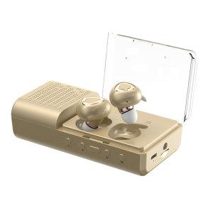 [엠지텍] MB-W2000 블루투스이어폰 골드 듀얼DAC/ 대용량배터리