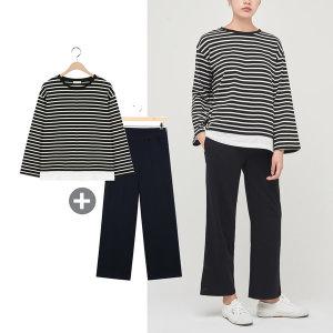(1+1) 모카썸 추석맞이 레이어드 티셔츠+팬츠