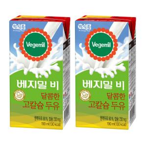 [베지밀] 베지밀B 달콤한 고칼슘두유 190MLX48팩