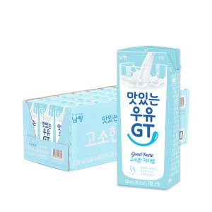 [맛있는우유GT] 맛있는우유GT 고소한 저지방 우유 180ml 24입
