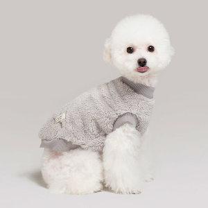 [패리스독] 보아털 조끼티 강아지옷