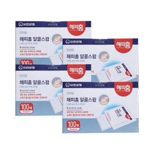 해피홈 알콜스왑 소독솜100매 4박스 (총 400매)