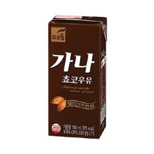 [푸르밀] 가나초코우유200ml24팩 / 멸균우유/두유/주스/음료수