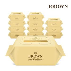 [브라운물티슈] 브라운 프리미엄 물티슈 캡형 72매 8팩 + 20매 6팩
