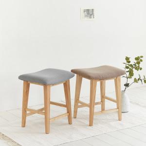 [룸앤홈] 실리트원목스툴 의자 스툴 카페의자 화장대 보조
