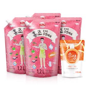 주방세제 트리오 홍초 담은주방세제4개