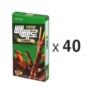 [무료당일배송]롯데 아몬드빼빼로 37G*40입