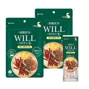 [LG생활건강] 시리우스 윌 애견간식 비프 스테이크스틱 100g 2팩